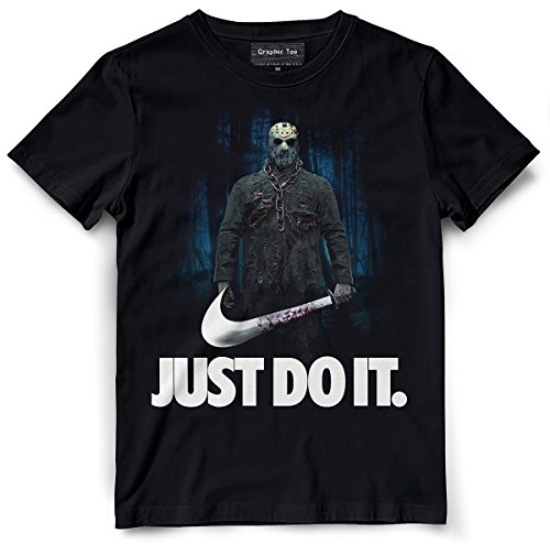 Jason Voorhees t-shirt, Friday the 13th t-shirt, Just Do It, Camp Crystal Lake