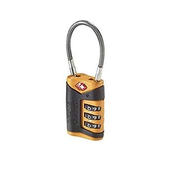 Lewis N Clark Orange TSA Cable Lock Value Pack (4-Pack)