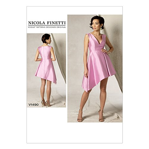 Vogue Patterns V1490 Misses' Asymmetrical-Hem Dress, A5 (6-8-10-12-14) ()