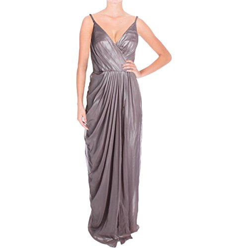 Vera Wang Women's Sleeveless Gown with Draped Side, Quartz, 12