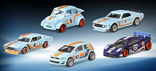 Amazon.com: Hot Wheels 2019 Car Culture Gulf Racing Series Set of 5, 1/64 Scale Diecast Cars: Toys & Games