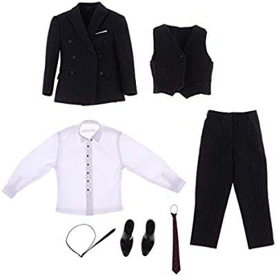 Amazon.es: Hellery Traje De Tela A Escala 1/6 Y Camisa Blanca Y ...
