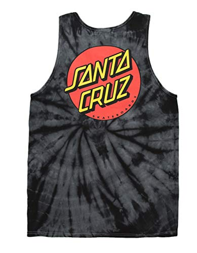 Santa Cruz Classic Dot Tank T-Shirt Spider Black (Small) (Dot Cruz Santa Classic)