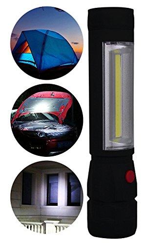 NVTED 1500 Lumen LED Flashlights, 2 in 1 Multi-Function LED Flashlight Lamp Torch (BLACK)