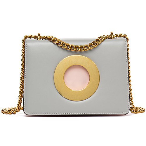 Western Style Leather Shoulder Bag (FIGESTIN Women Genuine Leather Crossbody Purse Bag Camera Style Bright Colors Shoulder handbags)