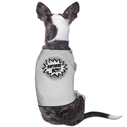 Theming Birthday Boy Dog Vest - Card Gift Virtual Send