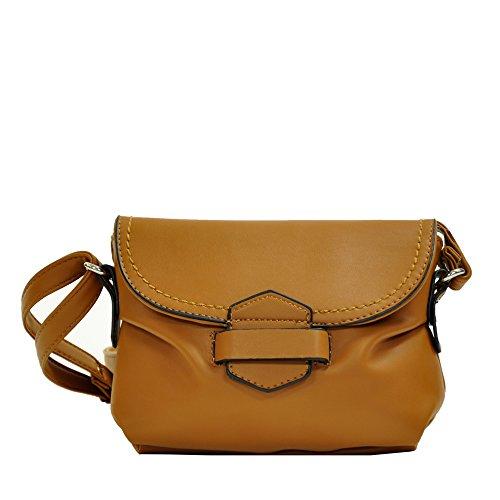 Satchel Downtown and Light Weight Cross Womens Buttersoft MoDA Handbags Body Cognac wC5Y1Oq