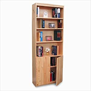 Gothic Cabinet Craft Wood Unfinished Bookcase