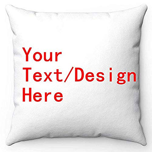 FabricMCC Throw Pillow Cover 18 Inch Quote Words Square Decorative Canvas Cushion Cover Throw Pillowcase for Couch (Custom Cover) ()