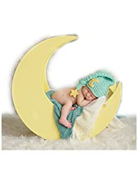 Newborn Baby Photography Props Boy Girl Photo Shoot Outfits Knitted Stars Moon Hat