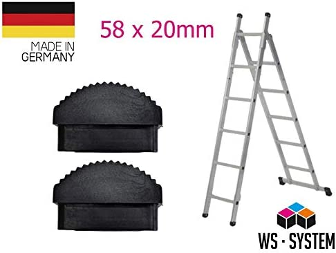 2 Stk Leiter Gummi-F/ü/ße Fu/ß Gummi Traversenfu/ßkappe Kappe Ersatz Anti-Rutsch