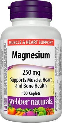 Webber Naturals Magnesium 250 mg, 100 - Caplets Magnesium 250 Mg