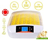 Moroly 56 Eggs Incubator Automatic Digital Hatching for Chicken Duck Goose Egg Hatcher