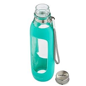 Contigo Glass Water Bottle, 20-Ounce, Greyed Jade