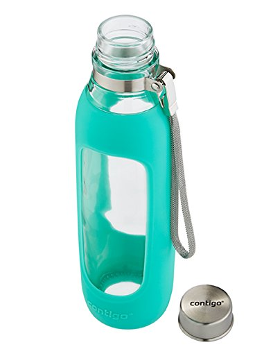 Contigo Purity Glass Water Bottle 20oz Greyed Jade Buy