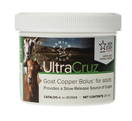 UltraCruz sc-363568 Goat Copper Bolus for adults, 25 count x 4 grams