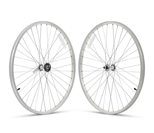 Firmstrong 1-Speed Beach Cruiser Bicycle Wheelset, Front/Rear, Silver, 24""