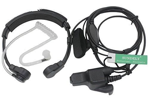 - SUNDELY Throat Vibration Mic Headset Earpiece with Finger PTT for Motorola Multi-pin Radio GP900 MTX838 XTS2500 JT1000 HT2000 Multi-pin