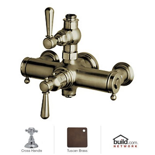 Rohl A2917XMTCB Country Bath Collection Verona Exposed Thermostatic Mixer with Cross Handles, (Rohl Exposed Thermostatic Mixer)