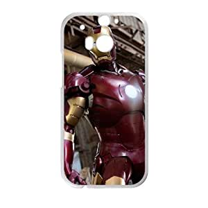 HTC One M8 Cell Phone Case White The Iron Man qfpr