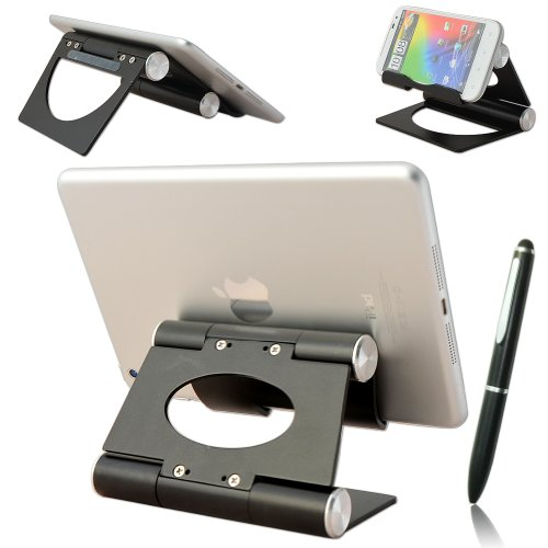 First2savvv black multi-angle Luxury Polished Stainless Steel Stand desktop dock docking station for HTC nexus 9 Lenovo A7 7 Inch Tablet Lenovo A8 8Inch Tablet Linx Microsoft 10.1 Inch Tablet huawei MediaPad 7 Youth Youth2 with stylus pen