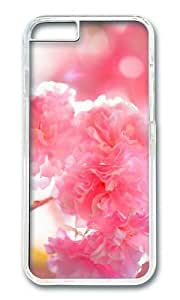 MOKSHOP Adorable double cherry blossoms Hard Case Protective Shell Cell Phone Cover For Apple Iphone 6 (4.7 Inch) - PC Transparent