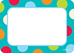 Creative Teaching Press Labels, Dots on Turquoise (4516)