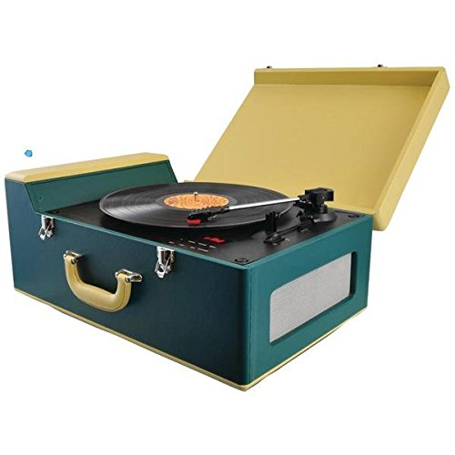 Pyle Home(r) Pvtt15ubt Bluetooth(r) Vintage Suitcase-Style Turntable Speaker System With Cd Player