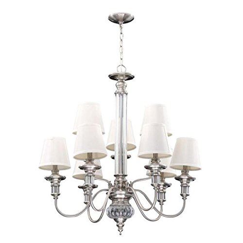 Gala 9-Light Polished Nickel Chandelier Polished Nickel