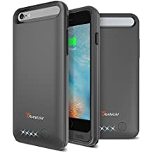 iPhone 6 / 6S Battery Case, Trianium Atomic Pro iPhone Portable Charger iPhone 6 / iPhone 6S (4.7 inch) Charging Case - 3200mAh Extended Battery Pack Juice Bank Cover[MFI Apple Certified] - [Black]