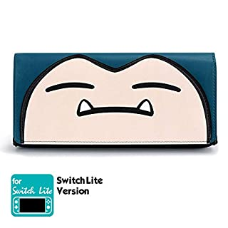 Funlab Leather Carrying Case for Nintendo Switch Lite,Portable Ultra Slim Clutch with Game Card Cartridges