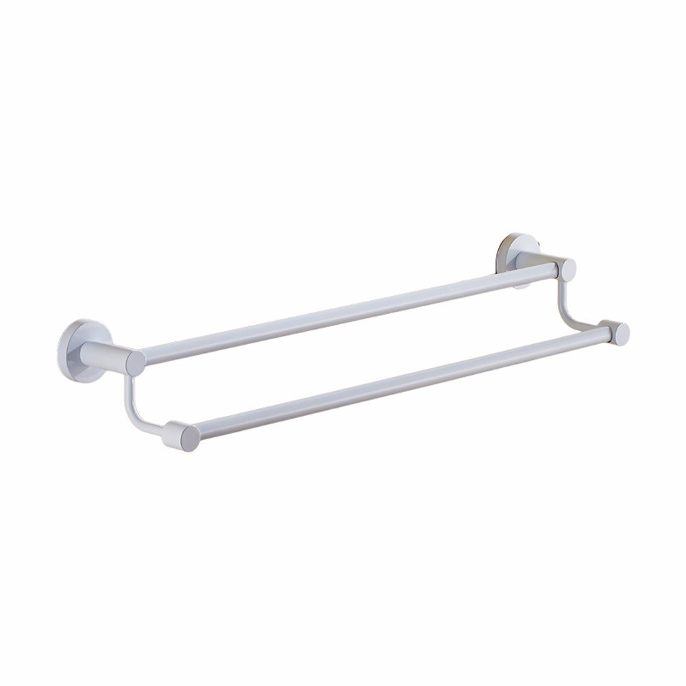 Yomiokla Bathroom Accessories - Bathroom Metal Towel Ring Windows inside and outside of telescopic rail multifunction folding clothes drying rack shoes towels diaper rack 50cm