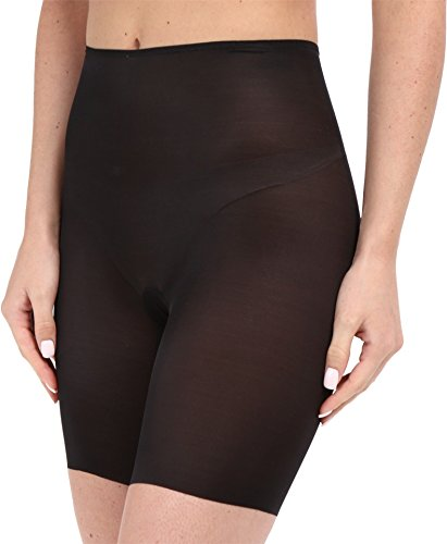 (SPANX Women's Skinny Britches Shorts Very Black Large)