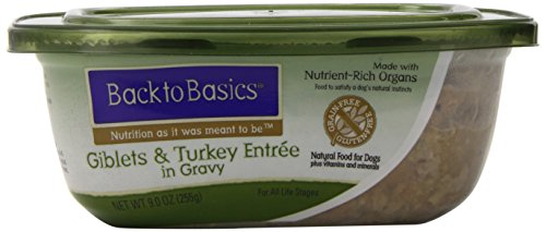 Back To Basics Grain-Free 8-Pack Wet Dog Food, Turkey Recipe, 9-Ounce