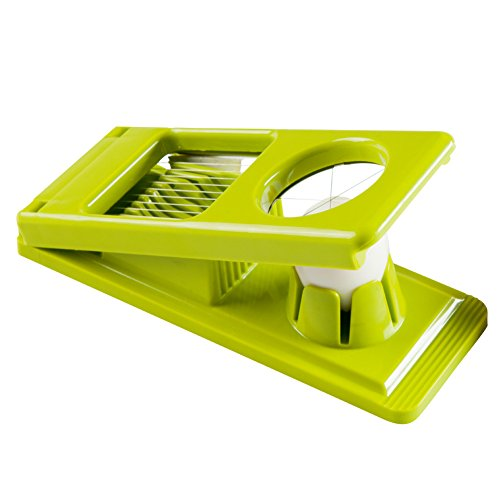 Multipurpose 2 in 1 Egg Slicer and Wedger with Stainless Steel Wires, Green