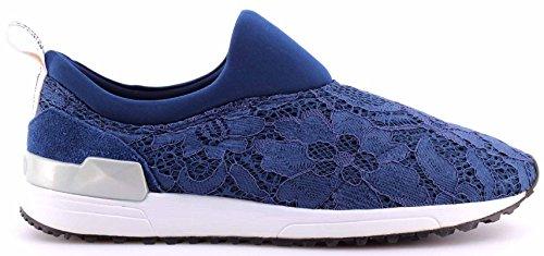 Mujer Pizzo jo Azul Sneaker Cheri Liu On Running Suede Slip Mesh pSB6q