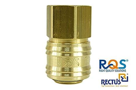 '1 pieza de aire comprimido, Rectus rqs (typ26) con rosca interior
