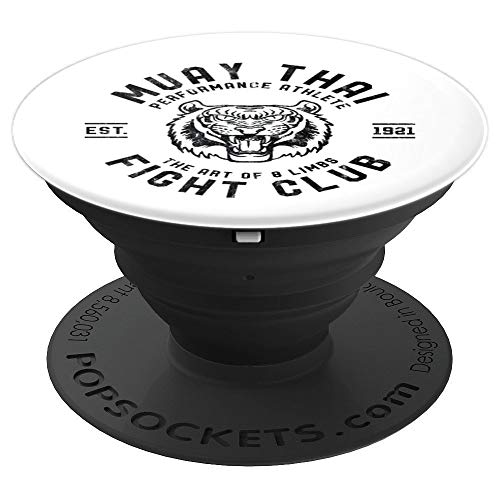 Muay Thai MMA Club Tiger 90s Kick Boxing Gift Product - PopSockets Grip and Stand for Phones and Tablets