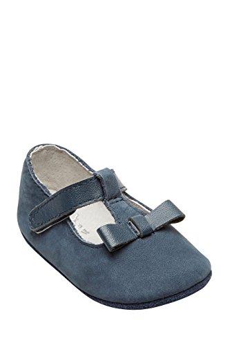 next Bebé Niñas Zapatos Lazo Tira Empeine Bebé Zapatillas Azul