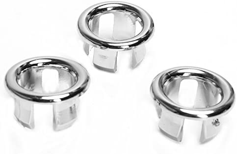 Sink Overflow Covers Round Hole Caps Insert Spares for Bathroom Basin 3 Pcs