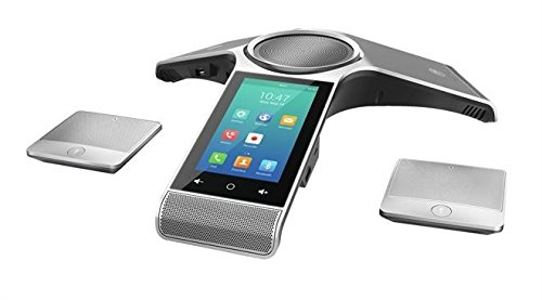 Yealink CP960-WirelessMic Conference IP Phone, 2 Wireless Expansion Microphones. 5-Inch Color Touch Screen. 802.11ac Wi-Fi, 802.3af PoE, Power Adapter Not Included by Yealink