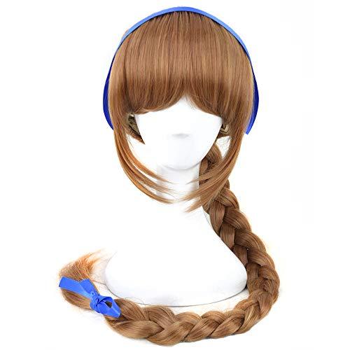 Yuehong Fairies Cosplay Wig Brown Long Braid Anime Halloween Costume Wigs ()
