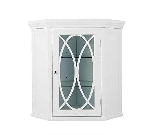 - Corner Wall Cabinet in White
