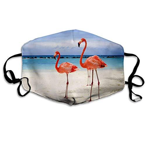 SOADV Mouth Masks Art Flamingo Pattern Mouth Masks Unisex Anti-Dust Flu Washable Reusable Mouth Mask Fashion Design for Girls Women Boys -