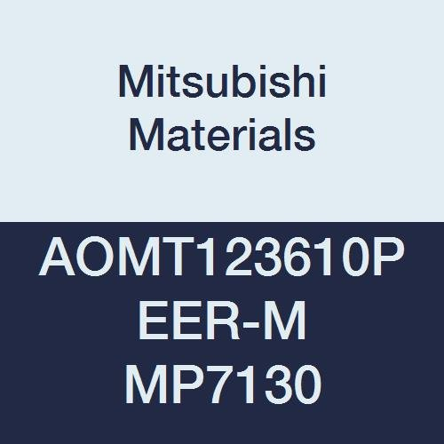0.142 Thick Grade MP7130 Parallelogram 85/° Mitsubishi Materials AOMT123610PEER-M MP7130 Coated Carbide Milling Insert Round Honing 0.039 Corner Radius Class M Pack of 10