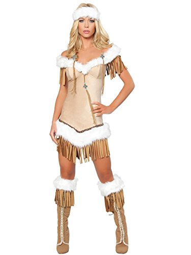 Deluxe Women's Indian Costumes (Roma Costume Women's Deluxe Indian Snow Princess, Medium/Large)