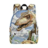 MALPLENA Daypack for Men Animals Compsognathus Dinosaur Travel Bag School Bag