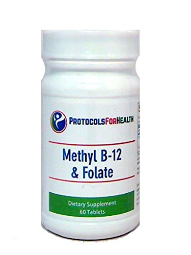 Methyl B-12 & Folate | 60 Tablets | Active Coenzyme B12, Methylcobalamin, With Active Folate (L-5-methyltetrahydrofolate) For Proper Metabolism Of Homocysteine.