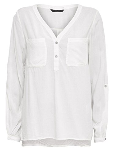 Only Onlnova L/S Shirt Solid Vis Wvn, Blusa para Mujer creme-weiß (Cloud Dancer)