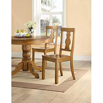 Wonderful Better Homes And Gardens Cambridge Place Dining Chairs, Set Of 2, Honey